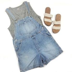 GAP Denim Overall Shorts